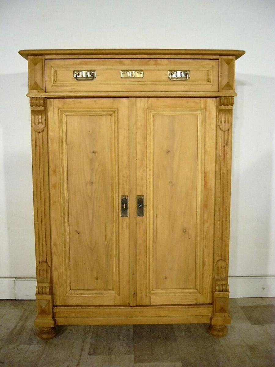 Vertiko Weichholz antik Schrank restauriert Kommode um 1900 Jhd. 0