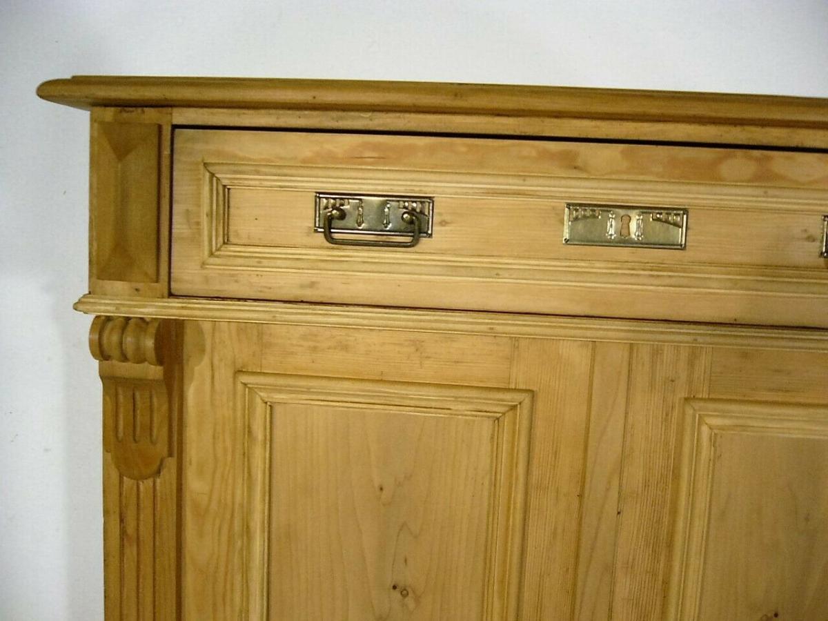 Vertiko Weichholz antik Schrank restauriert Kommode um 1900 Jhd. 2