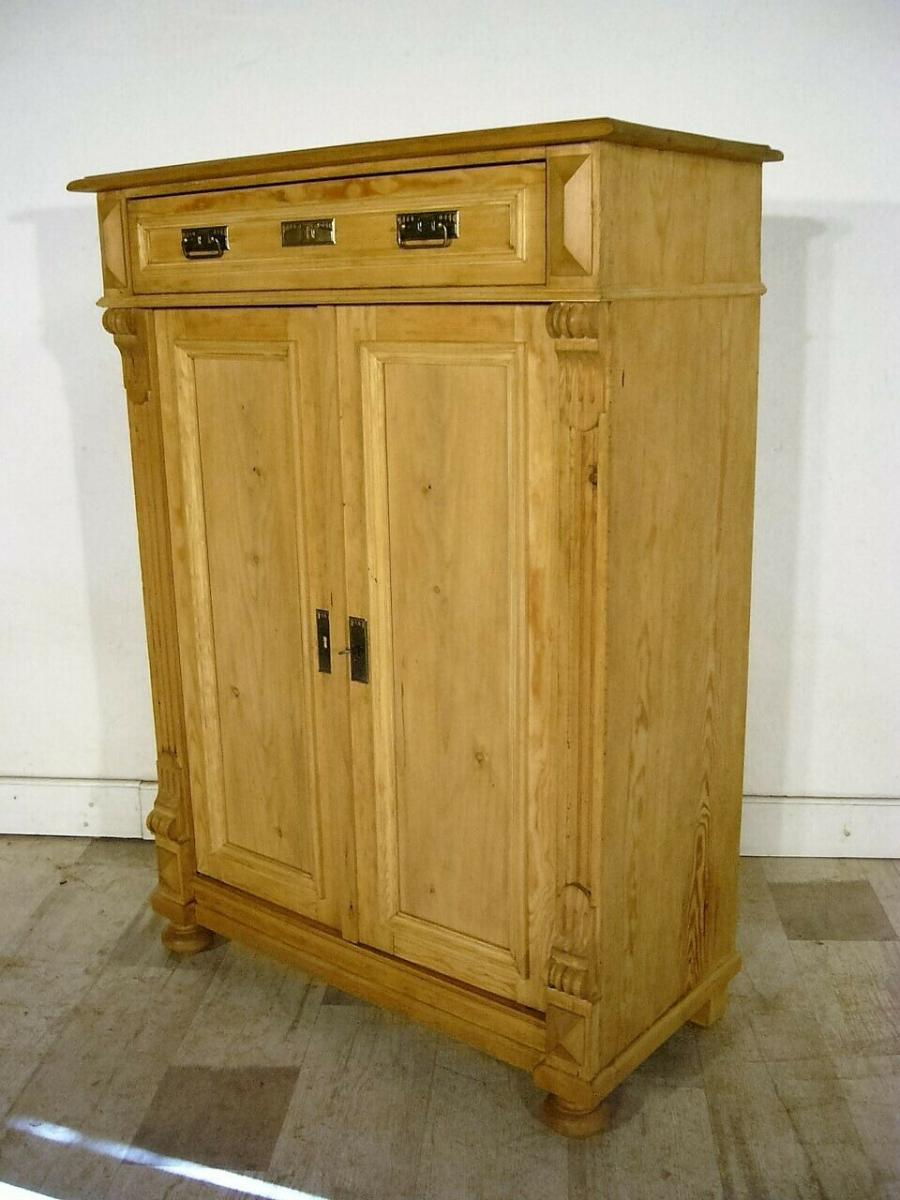 Vertiko Weichholz antik Schrank restauriert Kommode um 1900 Jhd. 7