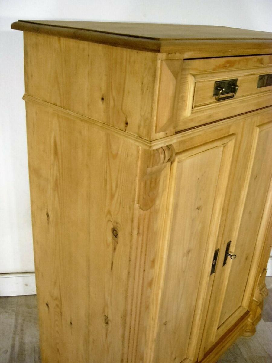 Vertiko Weichholz antik Schrank restauriert Kommode um 1900 Jhd. 8