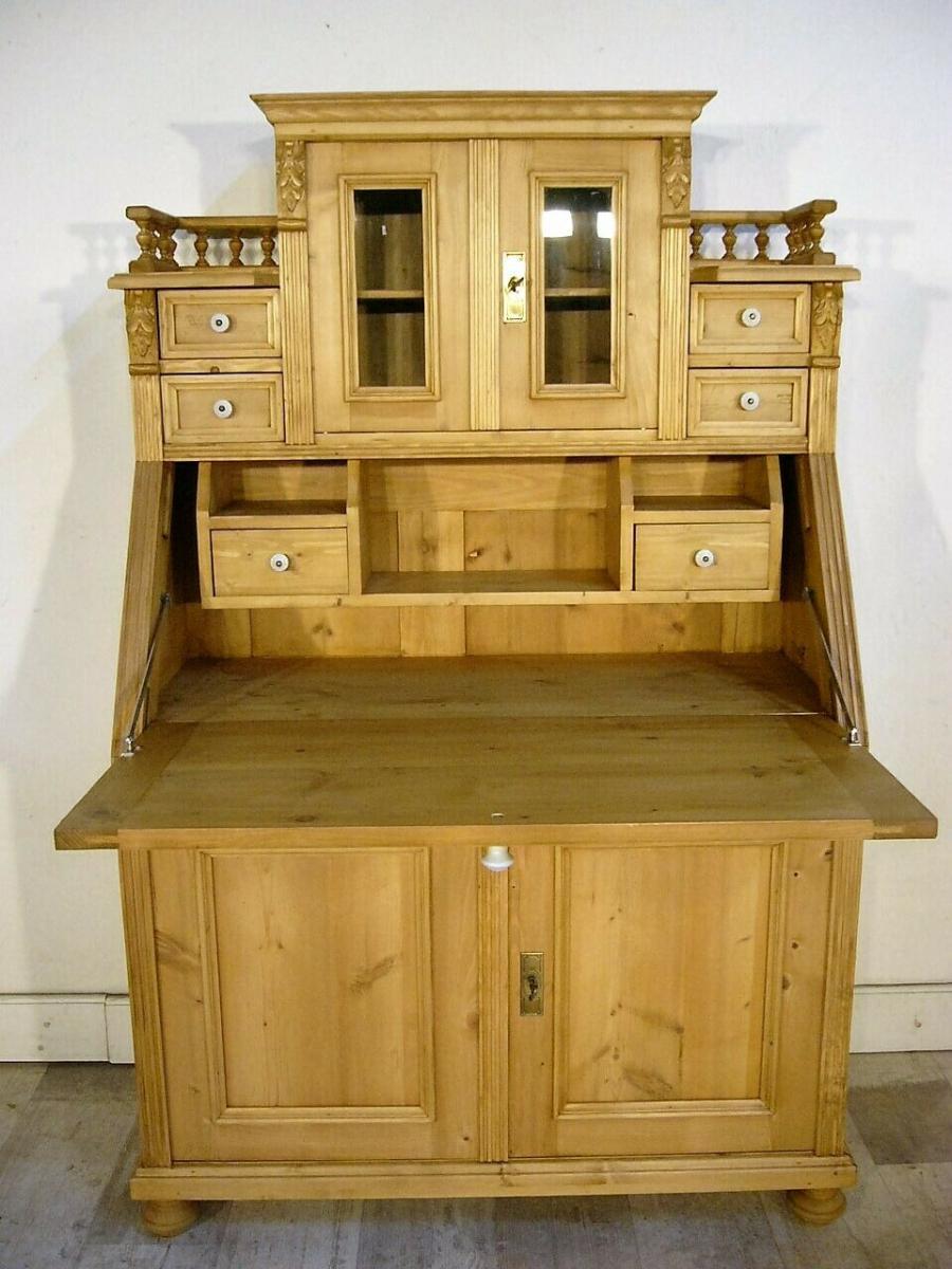 Sekretär Schreibtisch Weichholz Pult Schubladen fantastisch 1