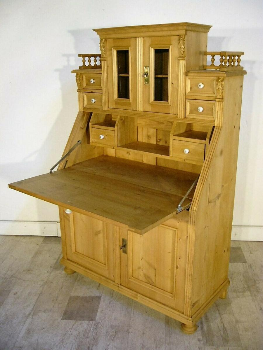 Sekretär Schreibtisch Weichholz Pult Schubladen fantastisch 3