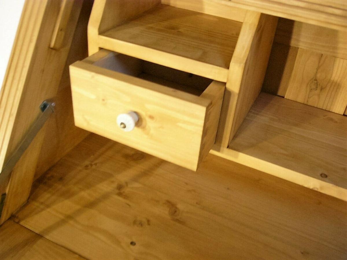 Sekretär Schreibtisch Weichholz Pult Schubladen fantastisch 9