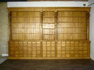 Bibliothek Laden Potsdam um 1874 Jhd. original Weichholz restauriert Teil 3