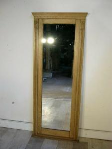 Spiegel groß Eiche Jugendstil Standspiegel antik restauriert um 1900 Jhd.