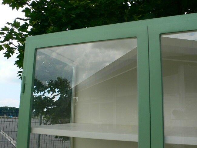 Vitrine Glas Eisen antik restauriert Industrial Eisenvitrine um 1930 Jhd. 11