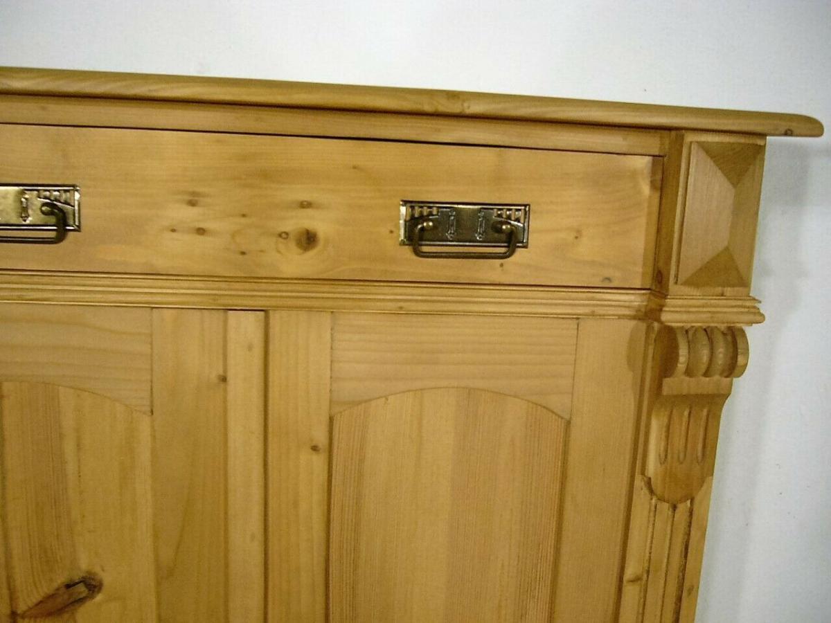 Vertiko Gründerzeit Weichholz Schrank Regal antik um 1900 Jhd. 1