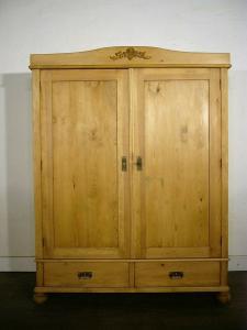 Schrank antik Jugendstil Weichholz zerlegbar tief nicht hoch um 1900 Jhd.
