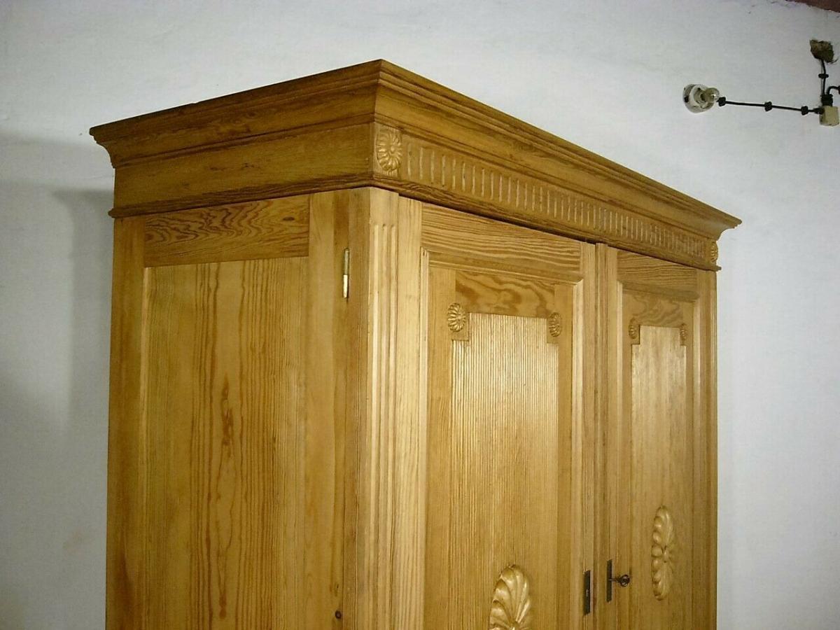 Schrank Jugendstil Weichholz riesig antik zerlegbar um 1900 Jhd. 11