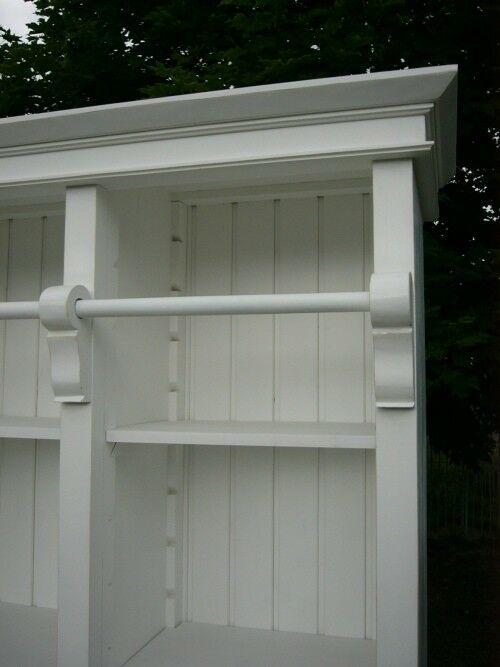 Bibliothek Bücherschrank Bücherregal im Landhaus Look mit Leiter 2