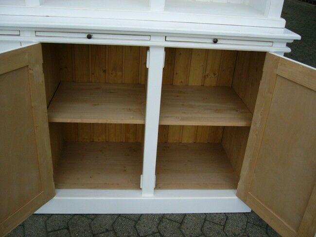 Bibliothek Bücherschrank Bücherregal im Landhaus Look mit Leiter 9