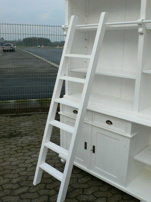 Bibliothek Bücherwand Bücherregal Bücherschrank Ladenschrank weiß 250 cm lang 3