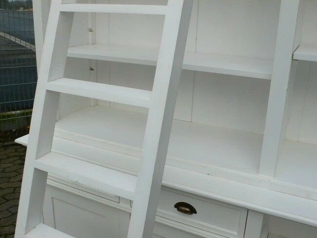 Bibliothek Bücherwand Bücherregal Bücherschrank Ladenschrank weiß 250 cm lang 6