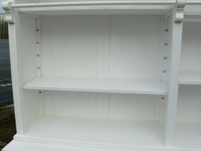 Bibliothek Bücherwand Bücherregal Bücherschrank Ladenschrank weiß 250 cm lang 7