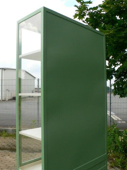 Vitrine Glas Eisen antik restauriert Industrial Eisenvitrine um 1930 Jhd. 9