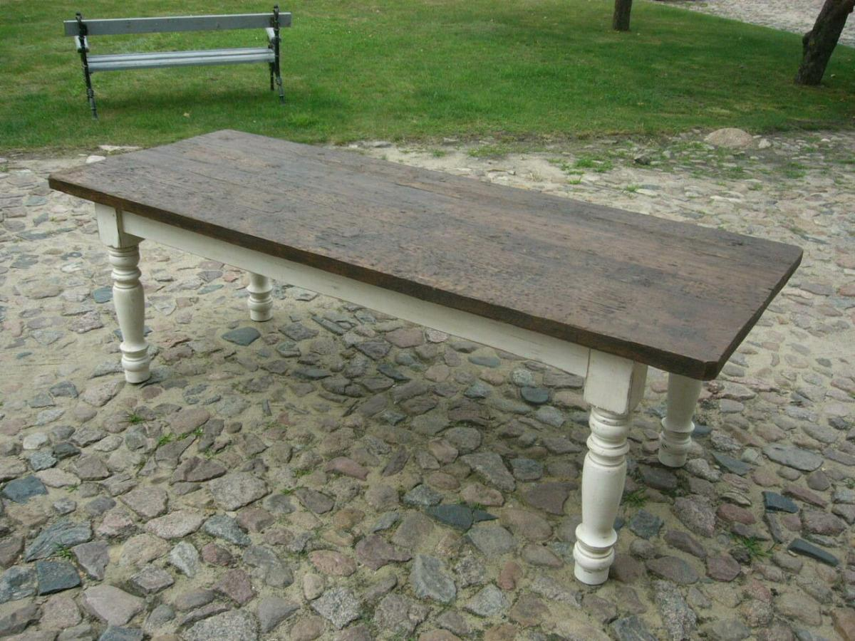 Tisch Gesindetisch antik aus Kloster Gründerzeit antik um 1880 Jhd. 0