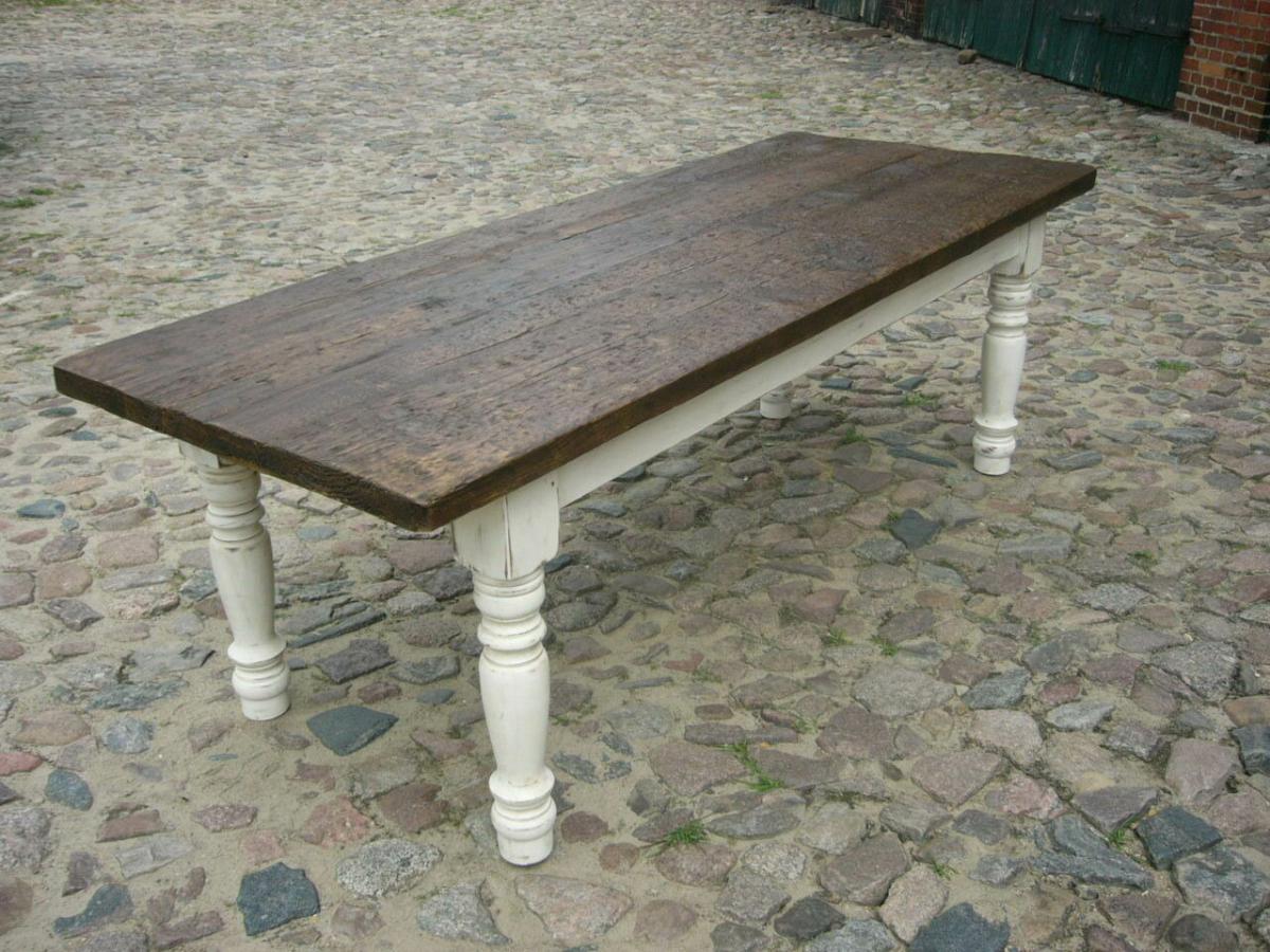 Tisch Gesindetisch antik aus Kloster Gründerzeit antik um 1880 Jhd. 1