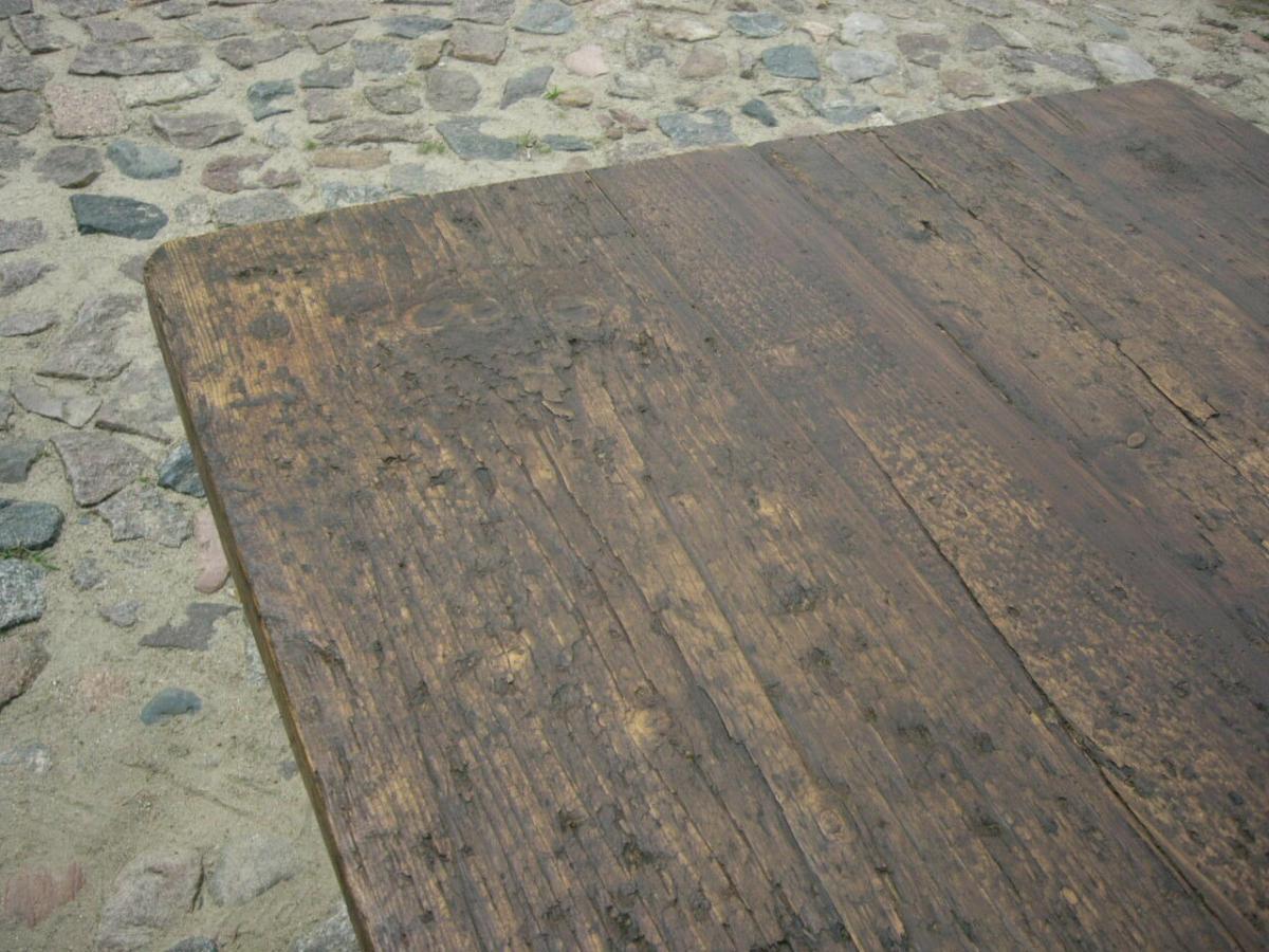 Tisch Gesindetisch antik aus Kloster Gründerzeit antik um 1880 Jhd. 10