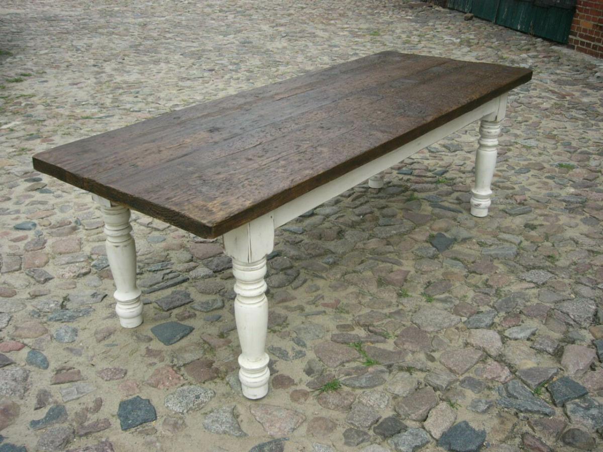 Tisch Gesindetisch antik aus Kloster Gründerzeit antik um 1880 Jhd. 2