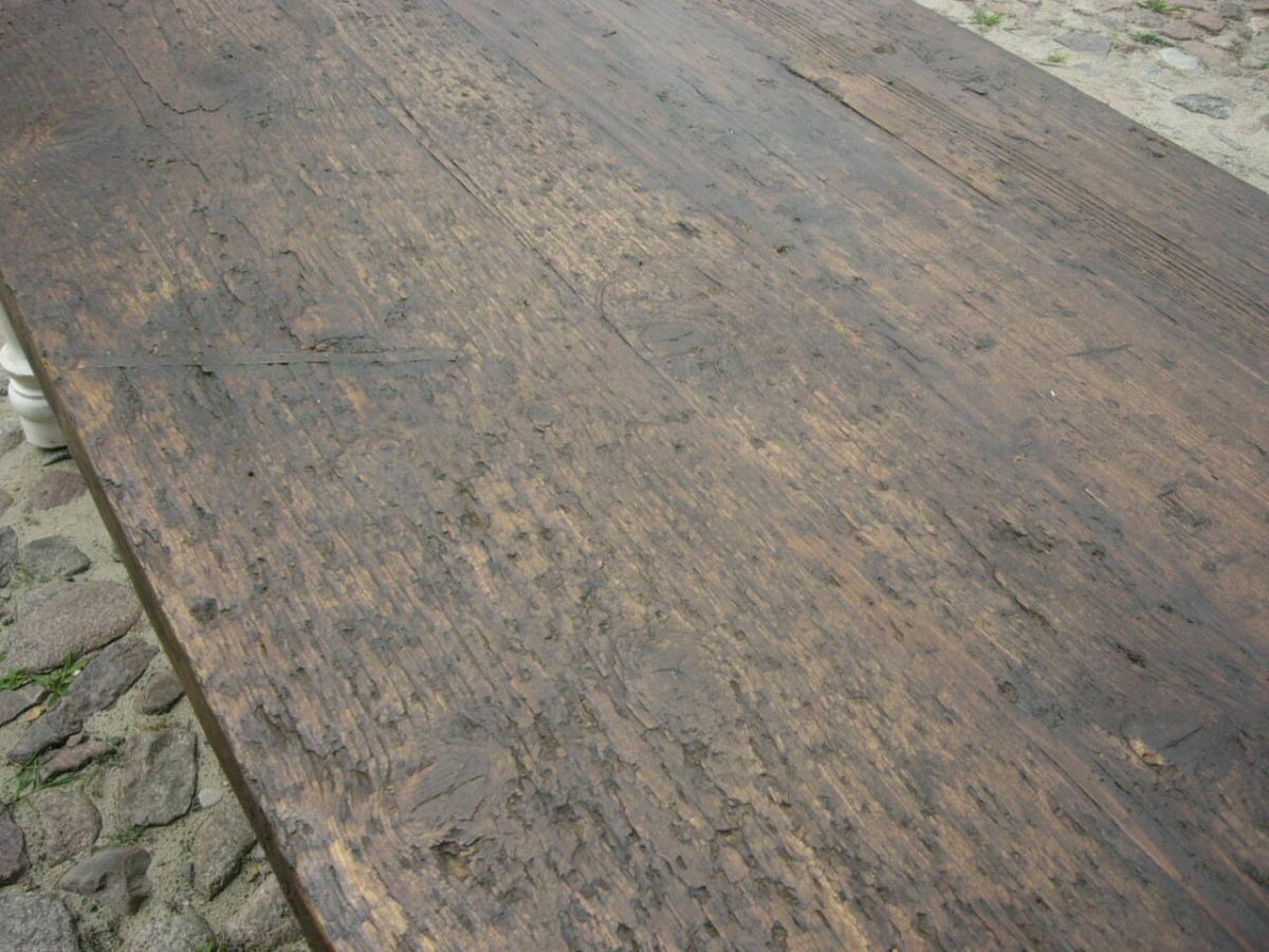 Tisch Gesindetisch antik aus Kloster Gründerzeit antik um 1880 Jhd. 7