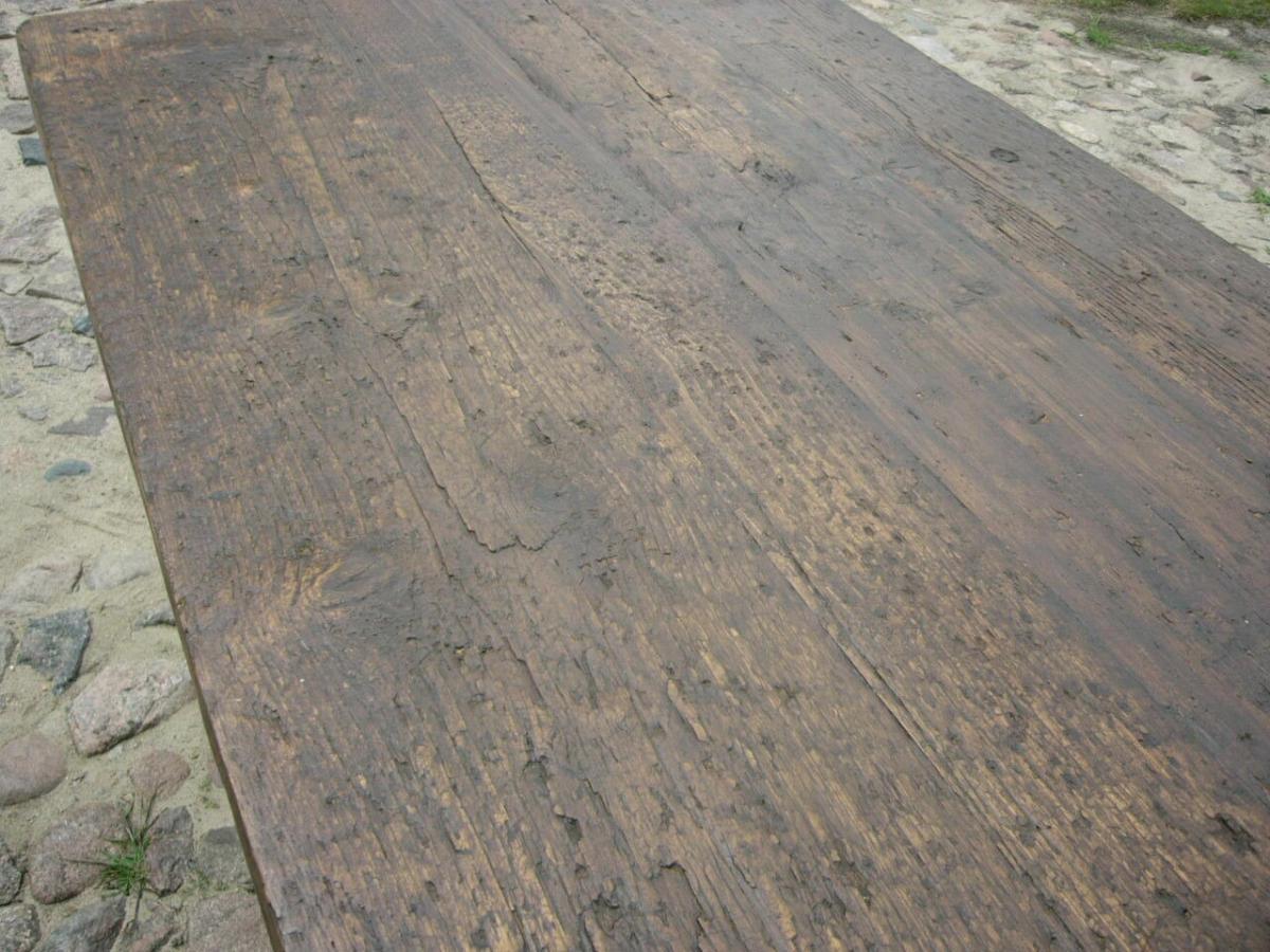 Tisch Gesindetisch antik aus Kloster Gründerzeit antik um 1880 Jhd. 9