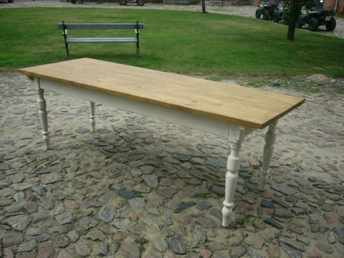 Tisch Gründerzeit Shabby Look Weichholz restauriert um 1880 Jhd. 1