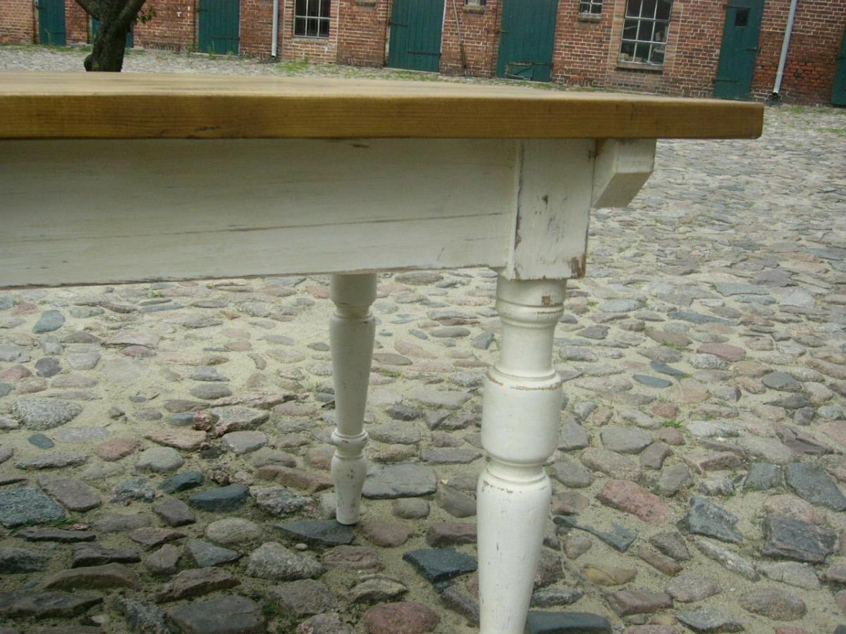 Tisch Gründerzeit Shabby Look Weichholz restauriert um 1880 Jhd. 11