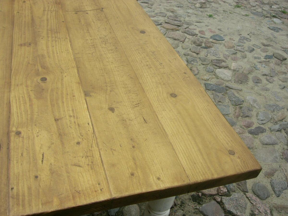 Tisch Gründerzeit Shabby Look Weichholz restauriert um 1880 Jhd. 3