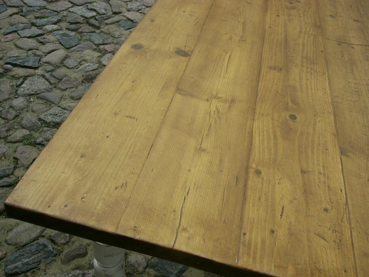 Tisch Gründerzeit Shabby Look Weichholz restauriert um 1880 Jhd. 4