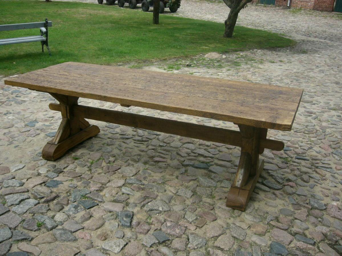Tisch Klostertisch antik sehr selten Weichholz lang restauriert um 1850 Jhd. 0