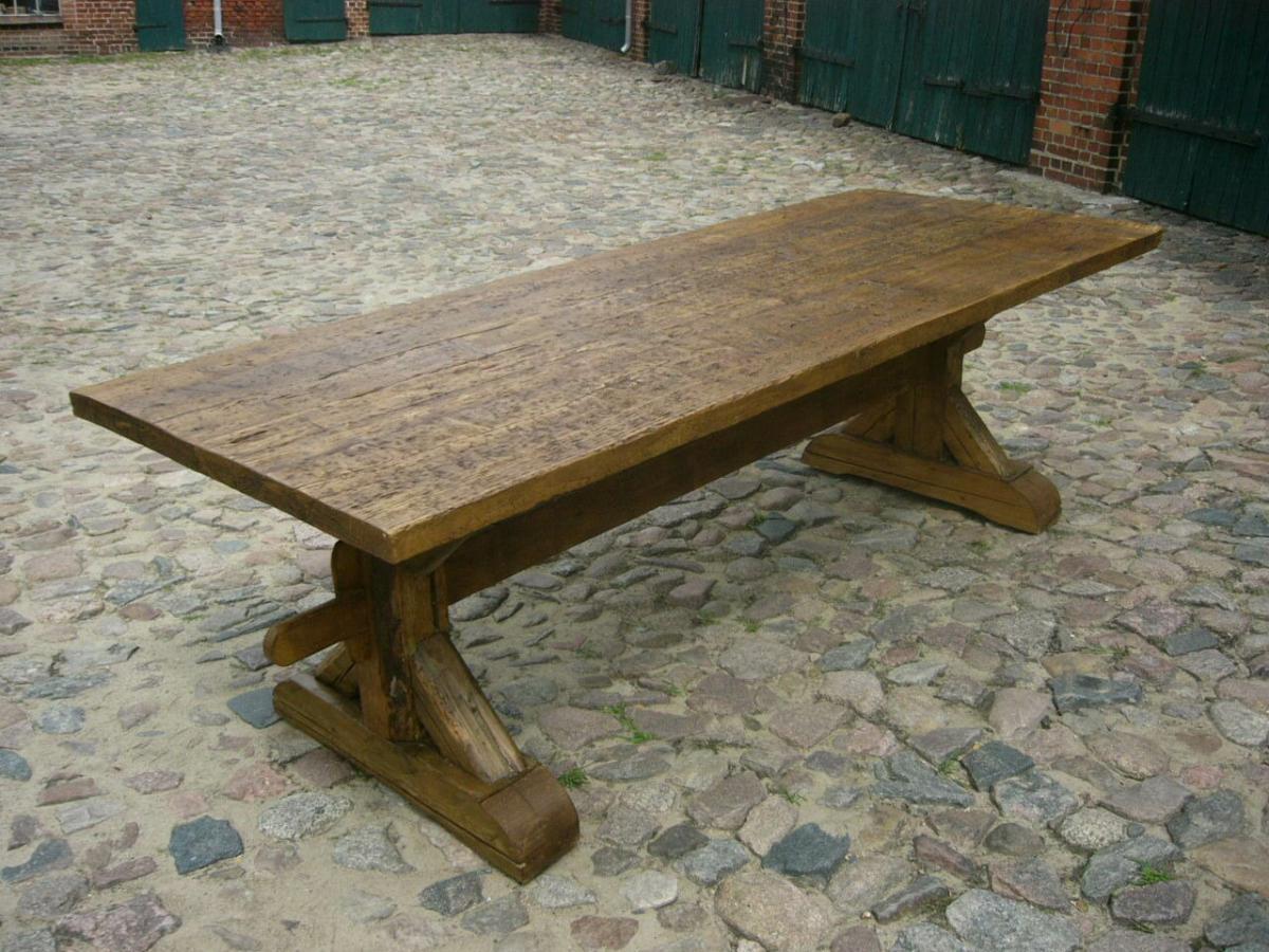 Tisch Klostertisch antik sehr selten Weichholz lang restauriert um 1850 Jhd. 1