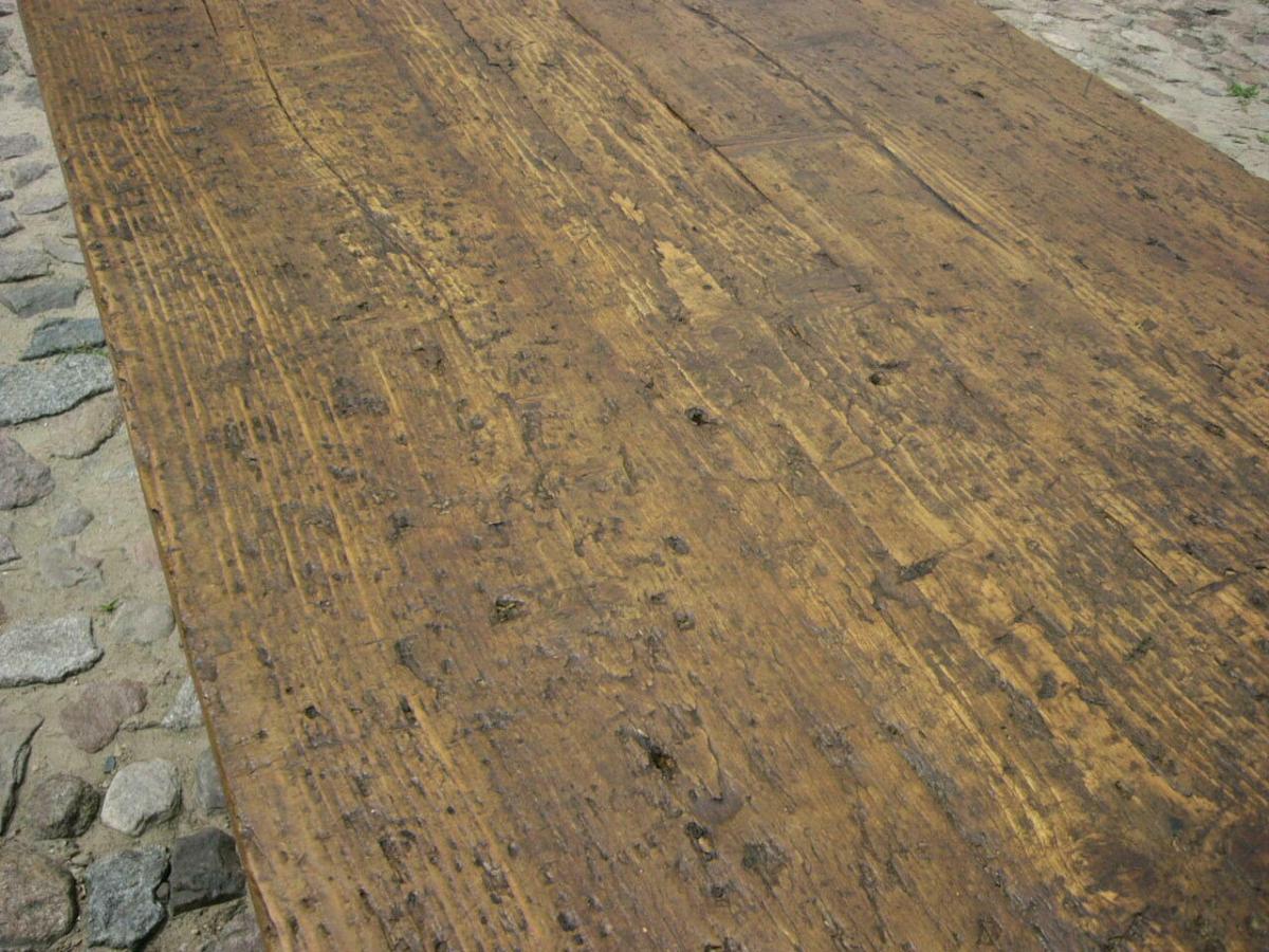Tisch Klostertisch antik sehr selten Weichholz lang restauriert um 1850 Jhd. 10