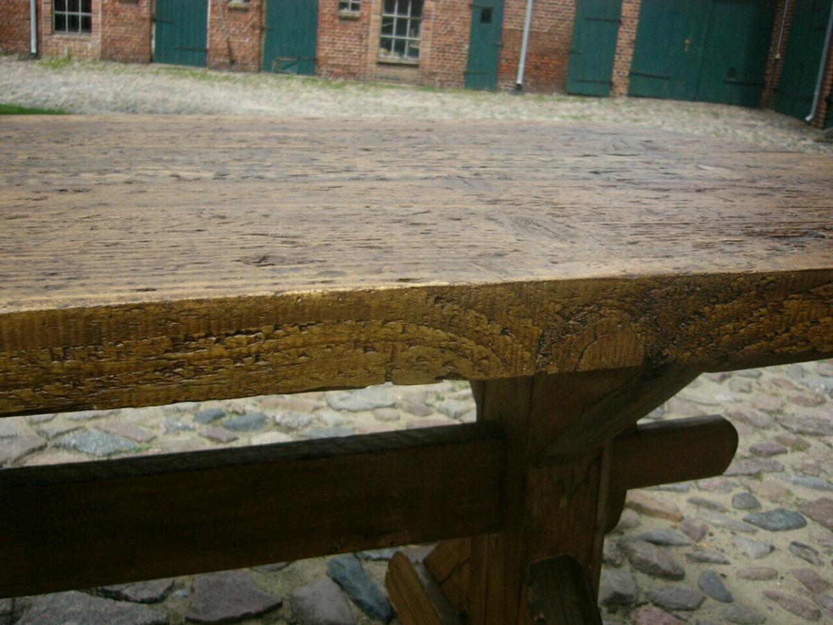 Tisch Klostertisch antik sehr selten Weichholz lang restauriert um 1850 Jhd. 2