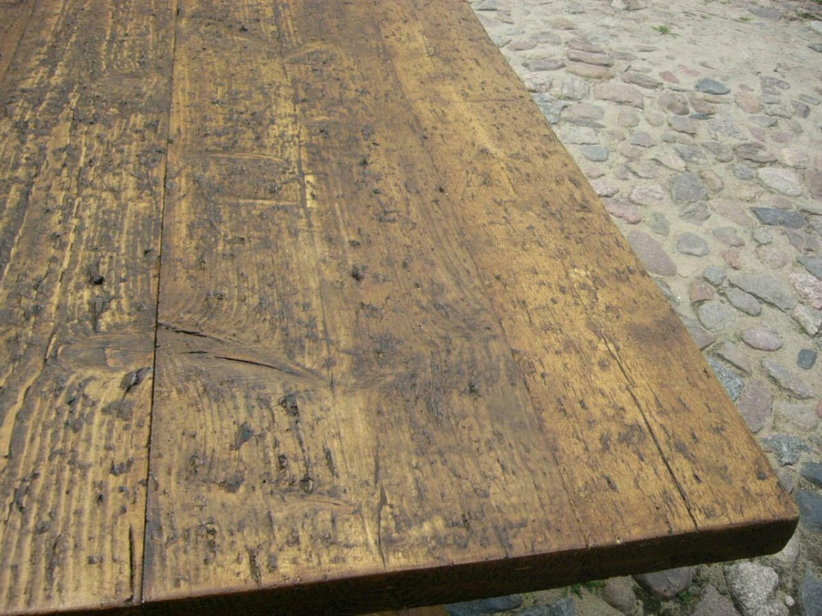 Tisch Klostertisch antik sehr selten Weichholz lang restauriert um 1850 Jhd. 4