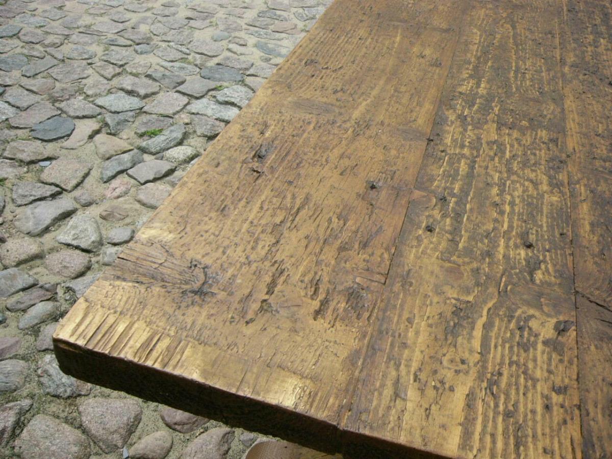 Tisch Klostertisch antik sehr selten Weichholz lang restauriert um 1850 Jhd. 5
