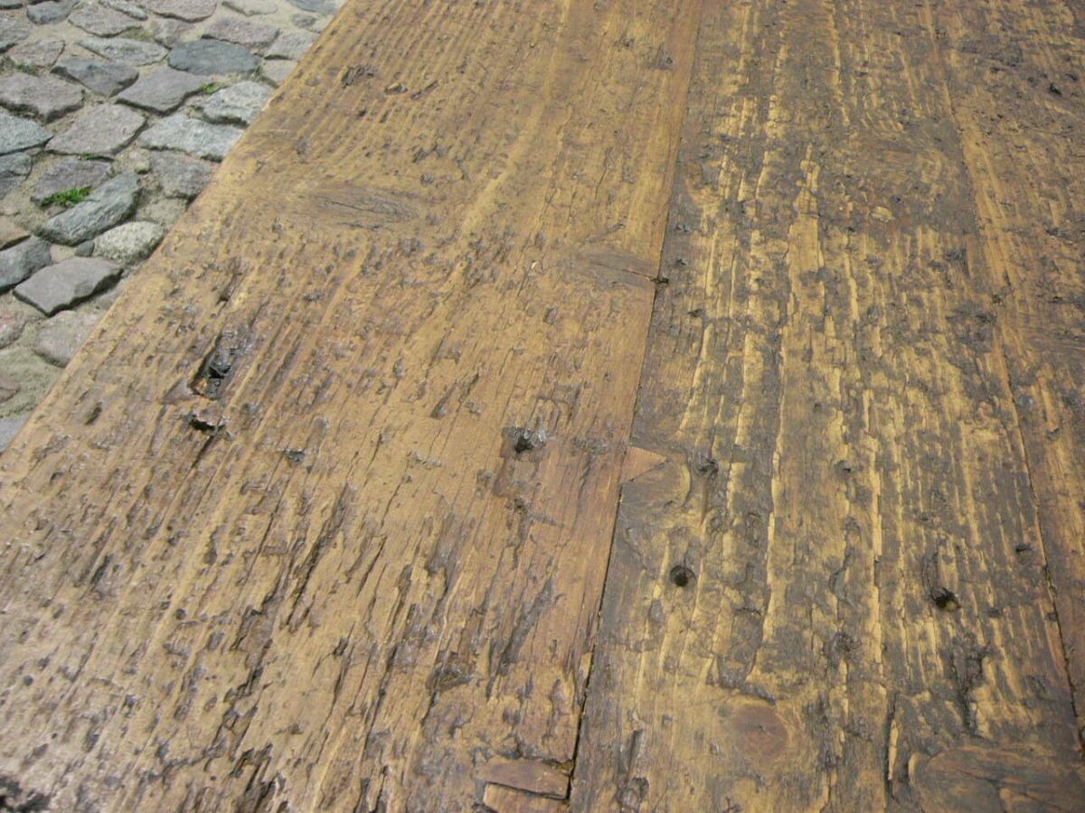 Tisch Klostertisch antik sehr selten Weichholz lang restauriert um 1850 Jhd. 6