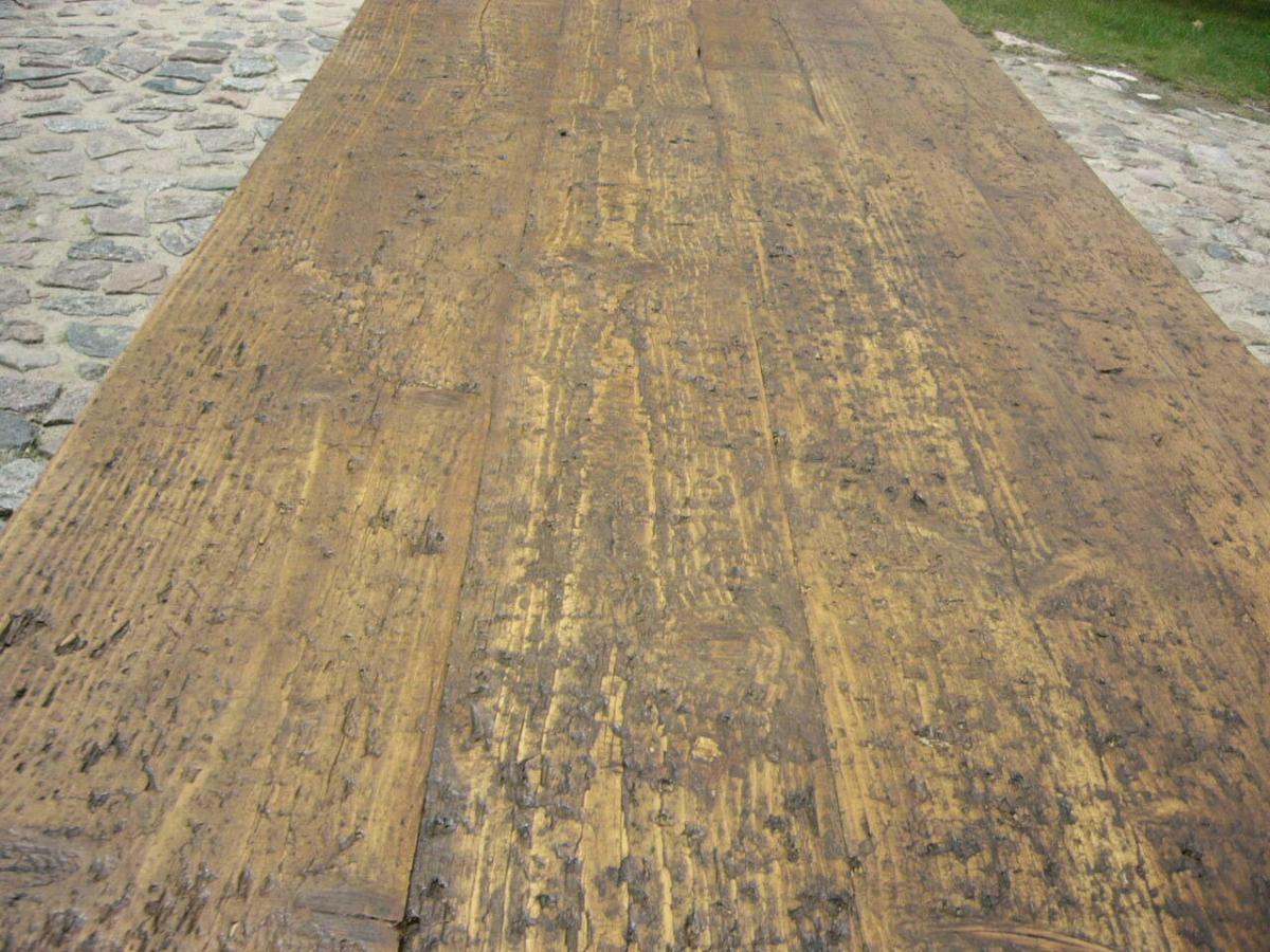 Tisch Klostertisch antik sehr selten Weichholz lang restauriert um 1850 Jhd. 7