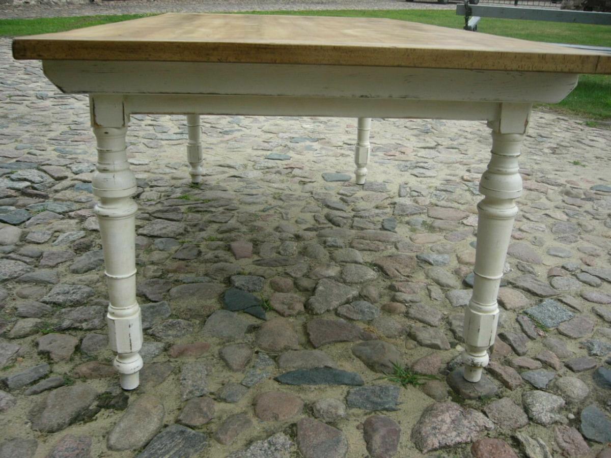 Tisch Gesindetisch Kneipentisch Gründerzeit Weichholz restauriert um 1880 Jhd. 11