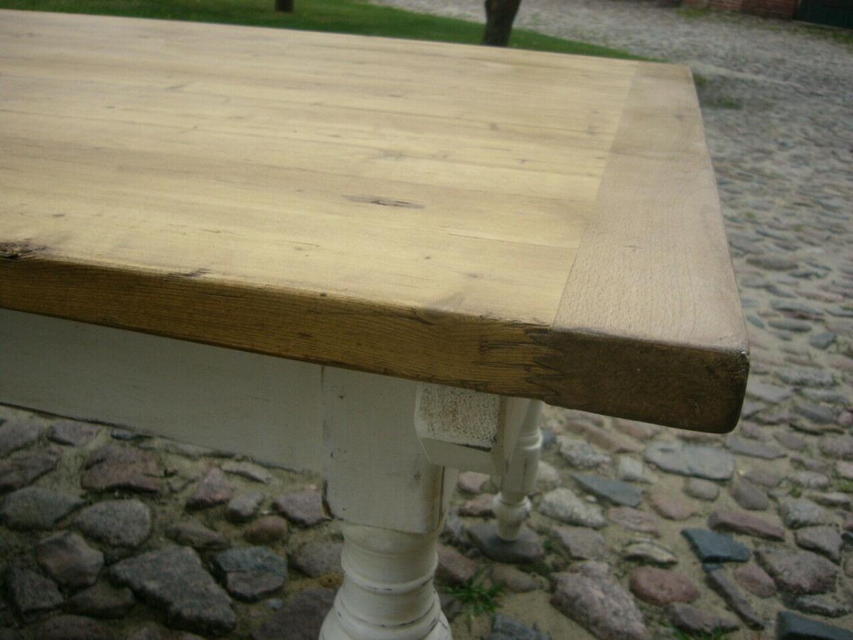 Tisch Gesindetisch Kneipentisch Gründerzeit Weichholz restauriert um 1880 Jhd. 8