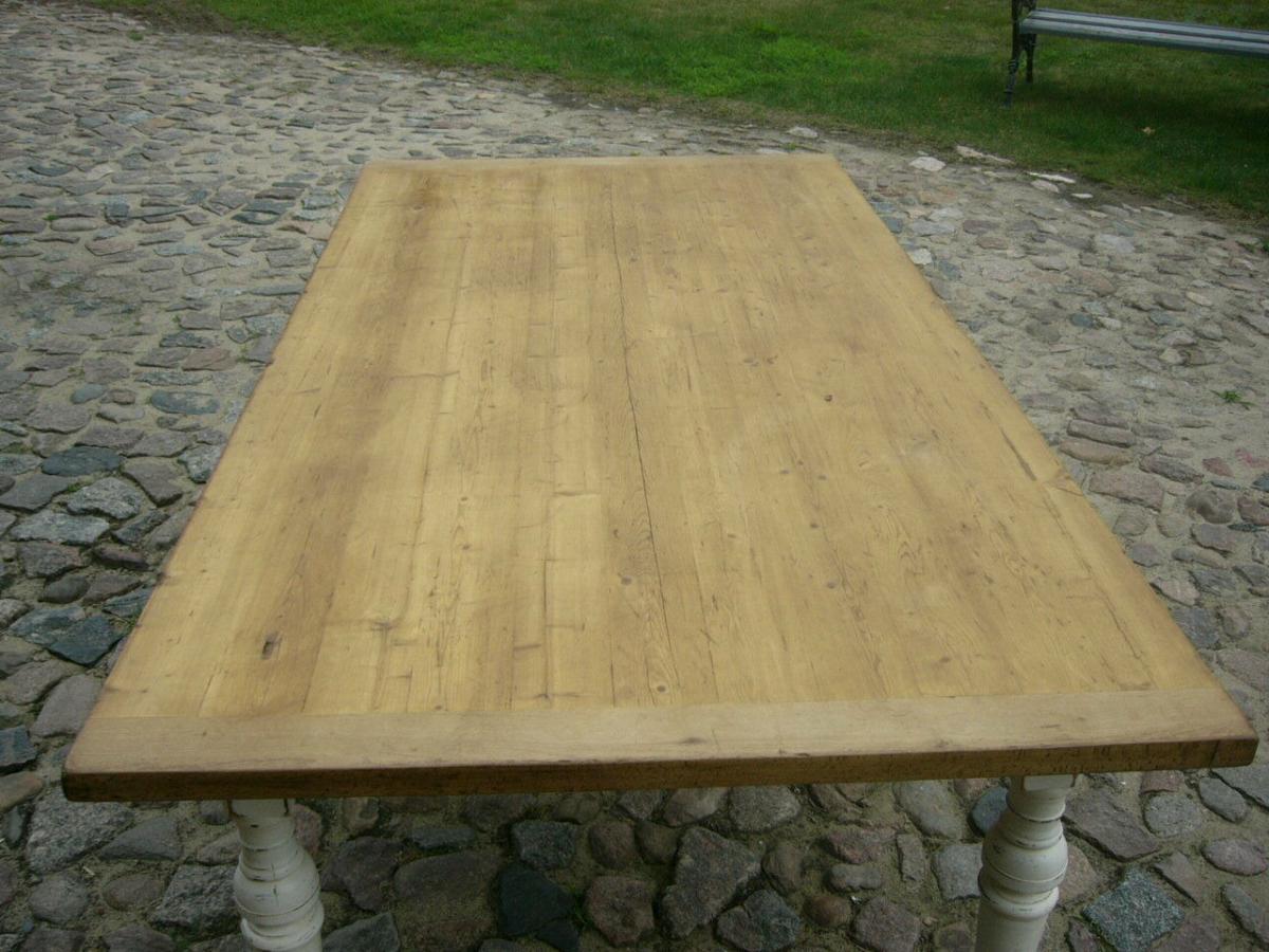 Tisch Gesindetisch Kneipentisch Gründerzeit Weichholz restauriert um 1880 Jhd. 9