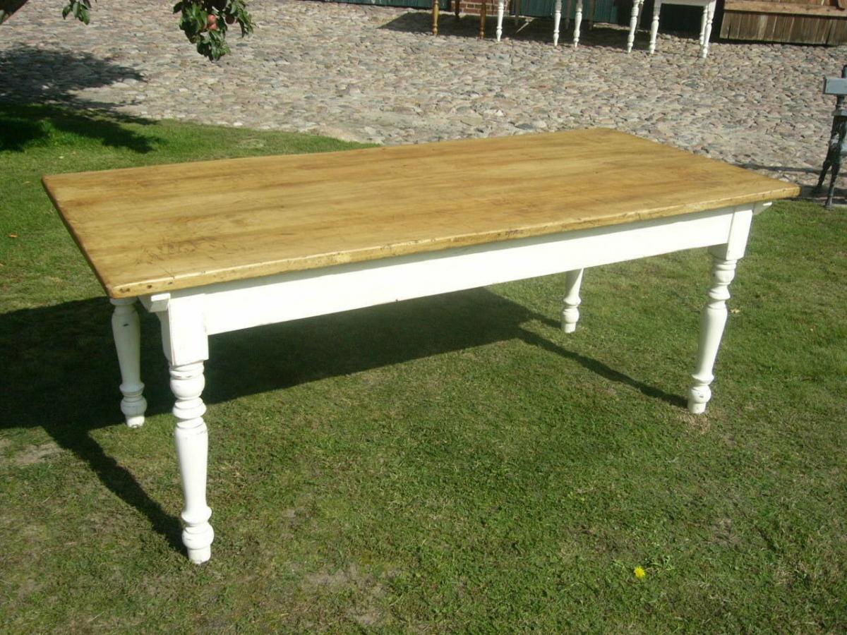 Tisch Lang antik Gründerzeit restauriert im Shabby Look um 1900 Jhd. 0