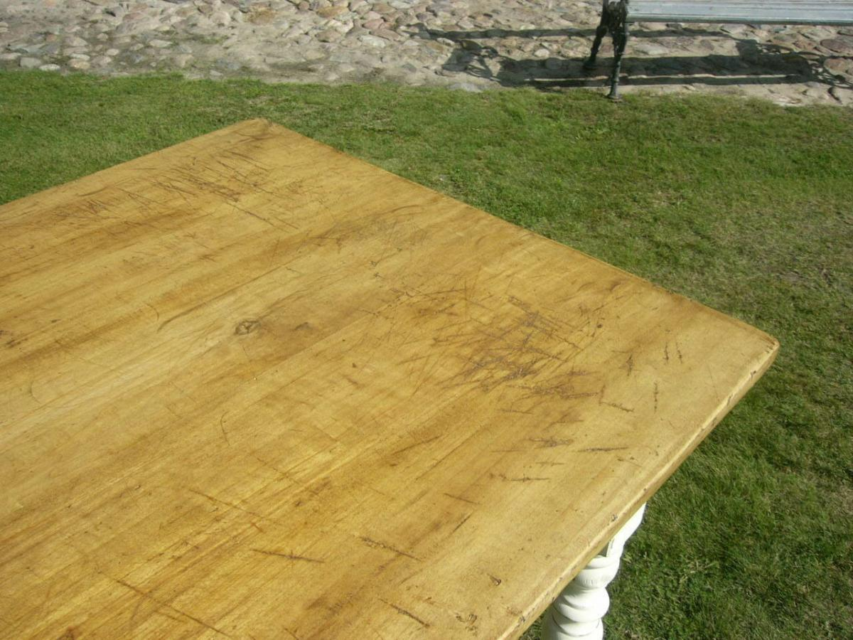 Tisch Lang antik Gründerzeit restauriert im Shabby Look um 1900 Jhd. 2