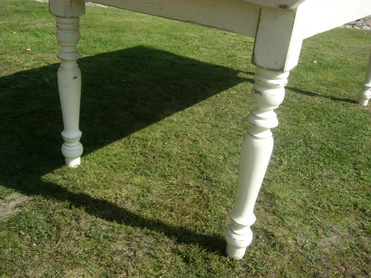 Tisch Lang antik Gründerzeit restauriert im Shabby Look um 1900 Jhd. 7