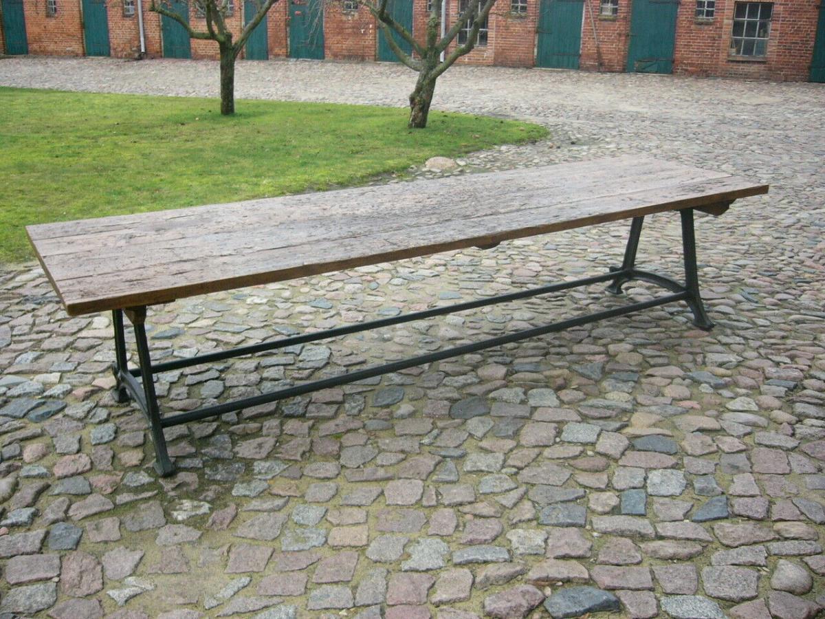 Tisch antik aus alter Schmiede zerlegbar 356,5cm lang um 1900 Jhd. 0