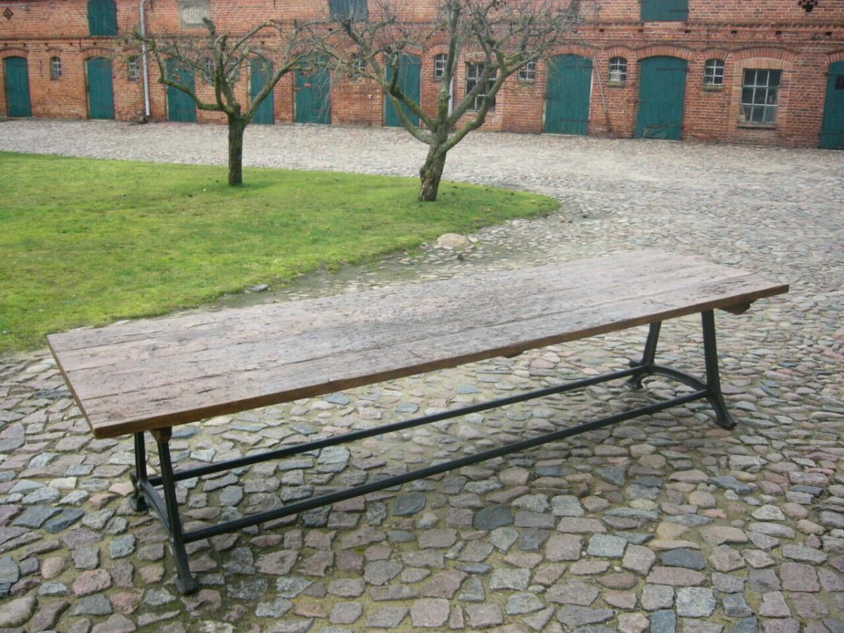 Tisch antik aus alter Schmiede zerlegbar 356,5cm lang um 1900 Jhd. 1