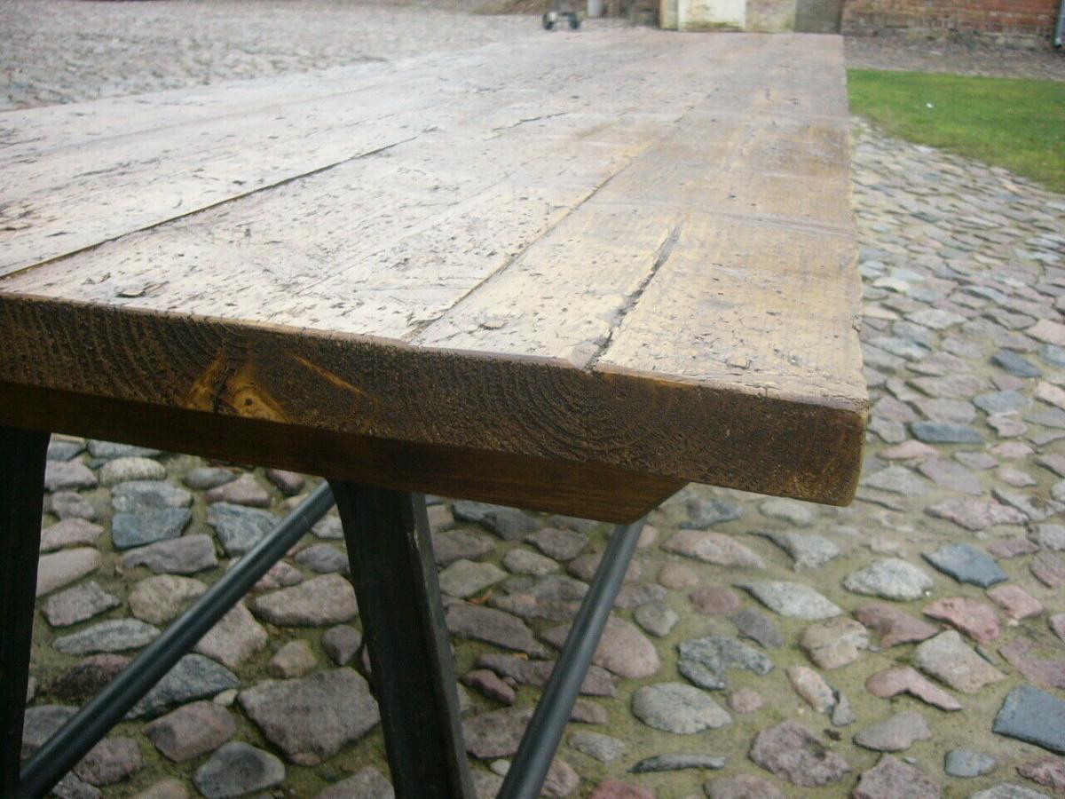 Tisch antik aus alter Schmiede zerlegbar 356,5cm lang um 1900 Jhd. 11