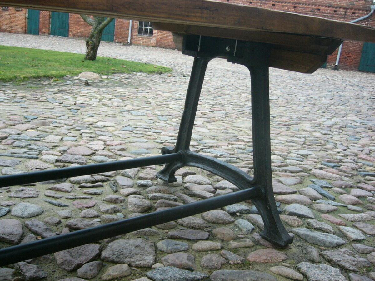Tisch antik aus alter Schmiede zerlegbar 356,5cm lang um 1900 Jhd. 2