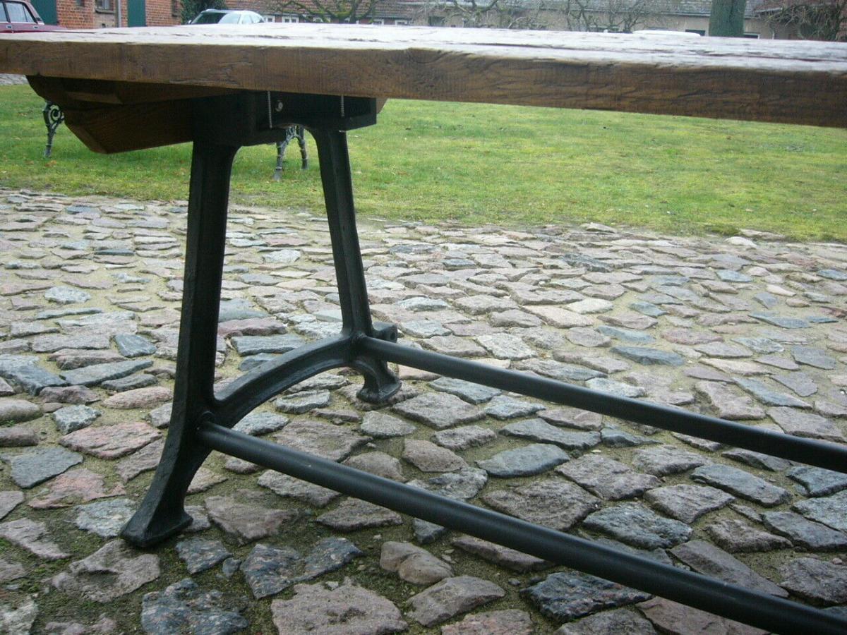 Tisch antik aus alter Schmiede zerlegbar 356,5cm lang um 1900 Jhd. 4