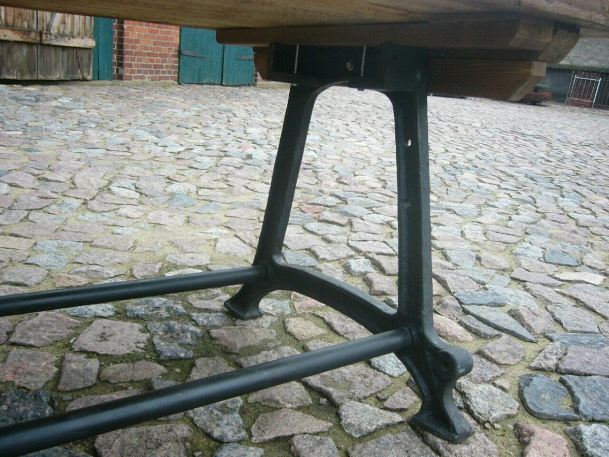 Tisch antik aus alter Schmiede zerlegbar 356,5cm lang um 1900 Jhd. 6