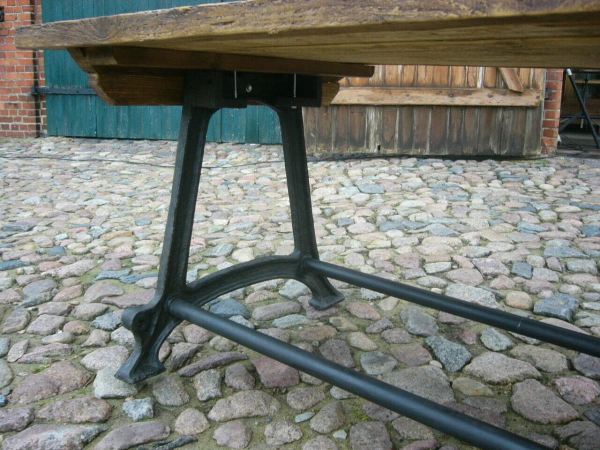 Tisch antik aus alter Schmiede zerlegbar 356,5cm lang um 1900 Jhd. 8